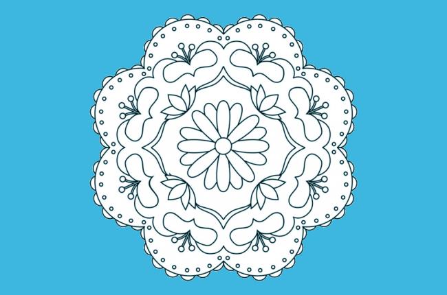 Fichas de rangolis para colorear | Manabadi
